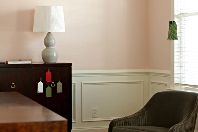 pink walls - sideboard color
