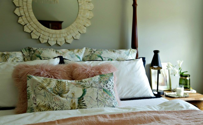 master bedroom – bedding remix