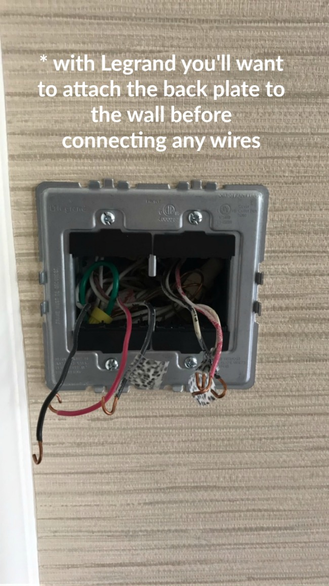 how to replace a light switch and or install a dimmer our fifth house rh ourfifthhouse com wiring a legrand double switch wiring a legrand 3 way switch