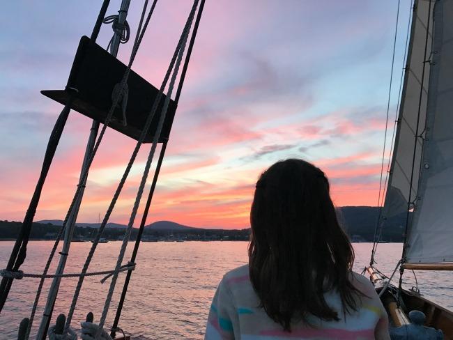 camden sunset sail