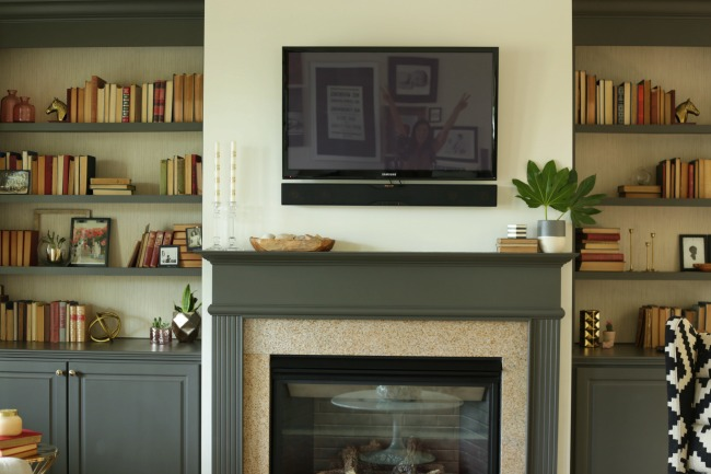 fireplace wall tv