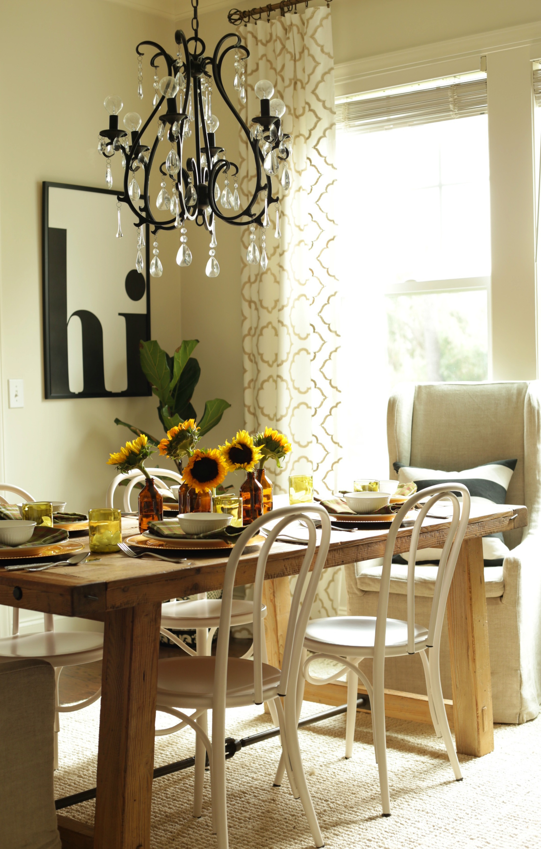 fall table Fall Home Tour Part