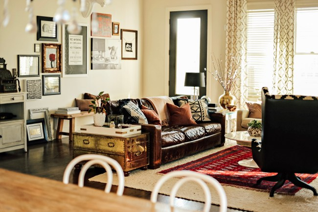 Where\'d You Get Your Brown Leather Sofa? | Our Fifth House