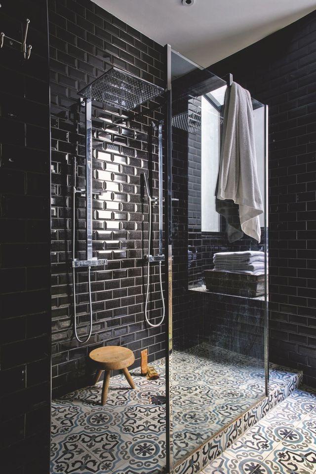 Gorgeous Black Tile Showers
