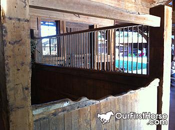 Biltmore Estate horse stall door damage