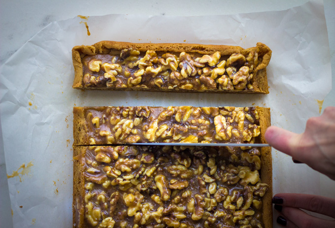 Salted Malted Walnut Brown Butter Shortbread Bars