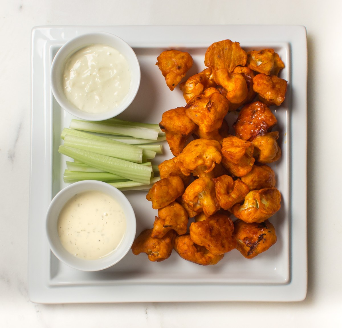 Paleo Buffalo Cauliflower Bites + Football Party Favorites