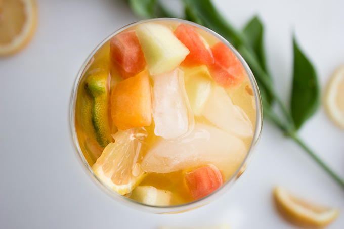 5 Ingredient Sparkling Melon Sangria