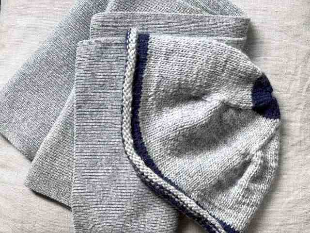 wool scarf and hat