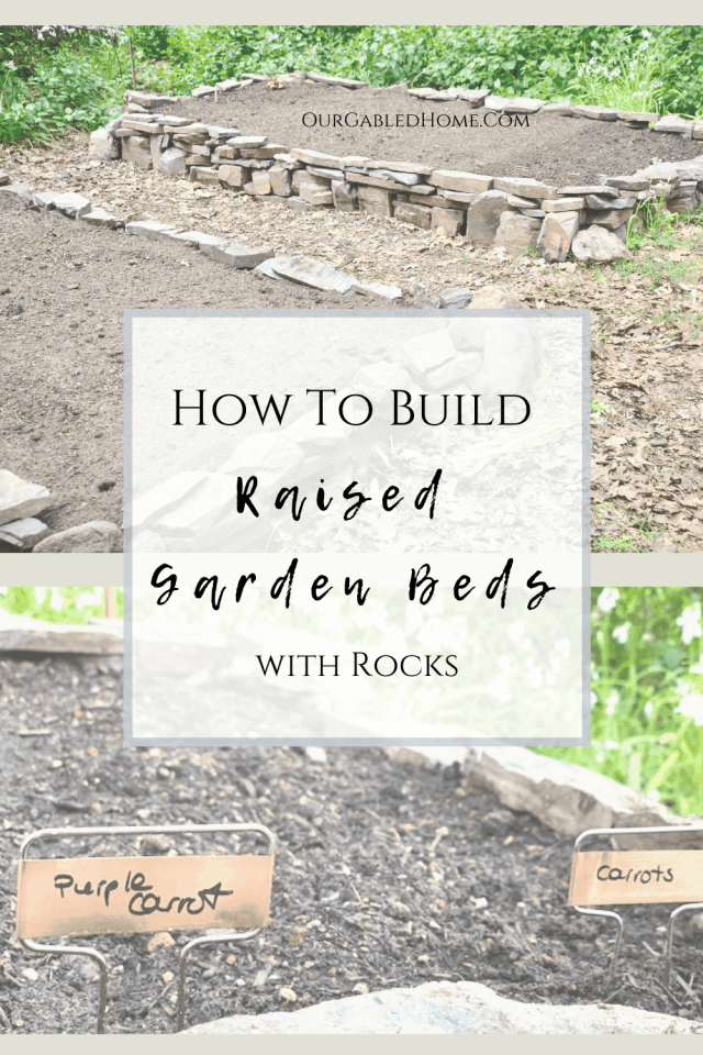 How to build raised garden beds with rocks