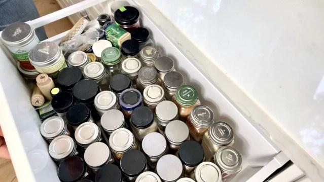 spice drawer unorganized