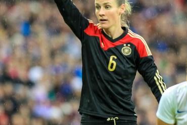Germany's Simone Laudehr on November 23, 2014, at Wembley Stadium.