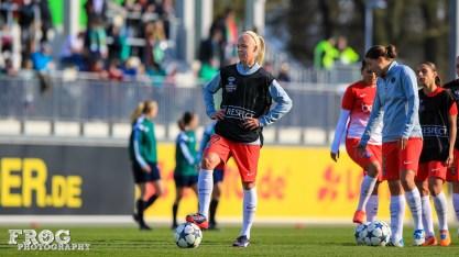 PSG's Caroline Seger before the match.