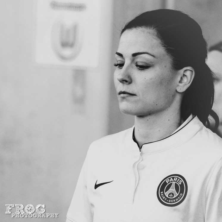 Laure Boulleau (PSG) before the match.