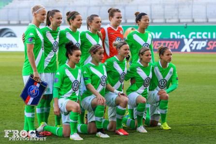 VfL Wolfsburg starting lineup.