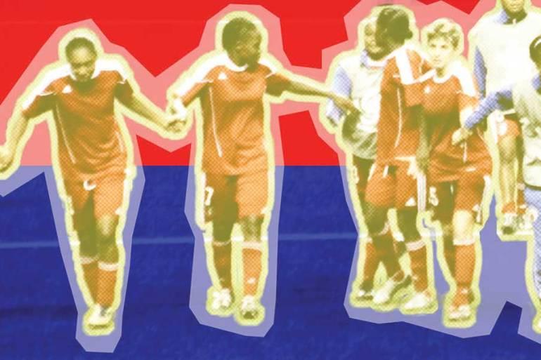 Members of the Haitian Women's National Team