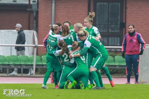 SV Werder Bremen celebrates.