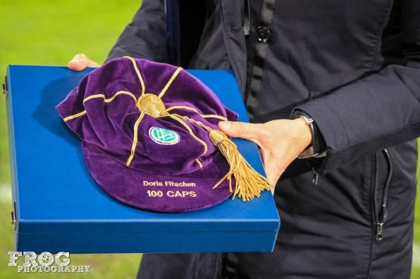 Doris Fitschen's special hat.