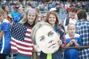 Fans of Alex Morgan and one judgy little girl.