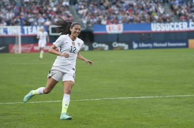 Christen Press is all smiles.