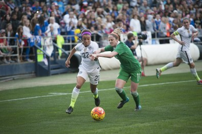 Mallory Pugh (22) and Julie Ann Russell.