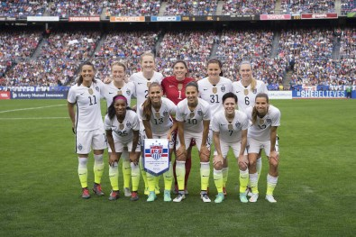 USA's starting lineup against Ireland on January 23, 2016.