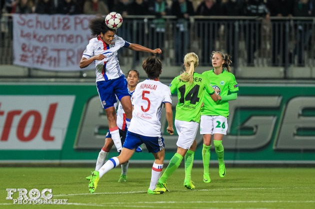 Wendie Renard (OL) gets up.