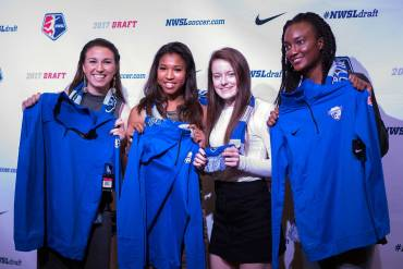 Boston Breakers 2017 draft picks. (Manette Gonzalez)