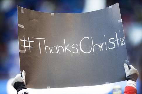 Sign thanking Christie Rampone for her service to the USWNT.