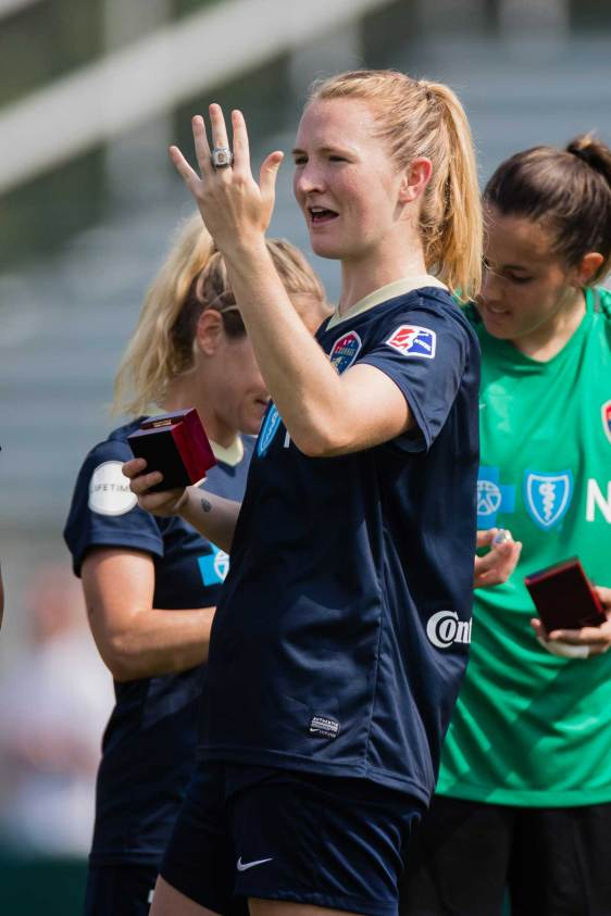 Sam Mewis gots a ring on it. (Shane Lardinois)