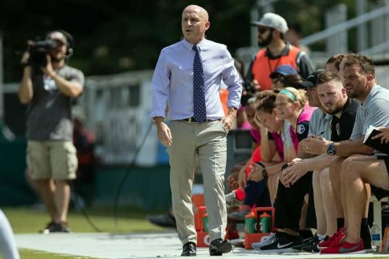 North Carolina head coach Paul Riley. (Shane Lardinois)