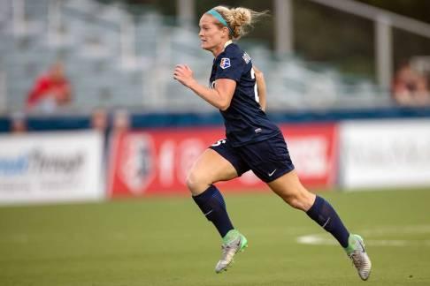 Kristen Hamilton looks to add to her two goals on the day. (Shane Lardinois)