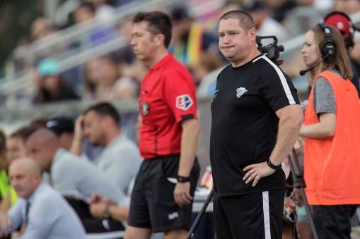 It was a rough day for Boston Breakers head coach Matt Beard.