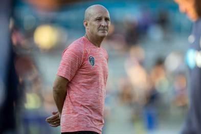 It's a look, isn't it? Courage head coach Paul Riley. (Shane Lardinois)