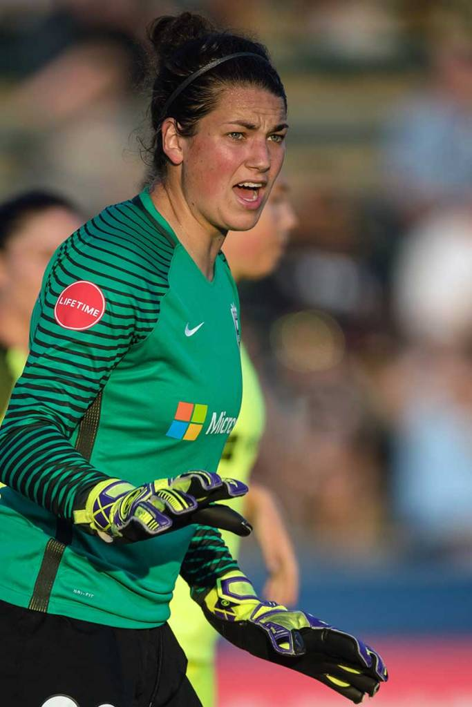 Seattle Reign goalkeeper Haley Kopmeyer. (Shane Lardinois)