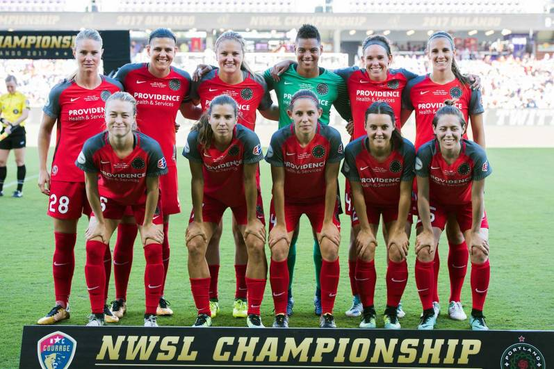 Portland Thorns FC starting lineup in the 2017 NWSL Championship. (Monica Simoes)