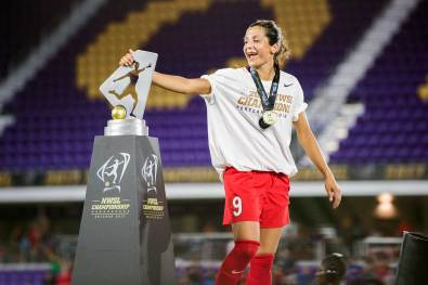 Nadia Nadim goes out a winner with the Portland Thorns. (Monica Simoes)