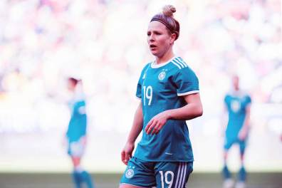 Germany's Svenja Huth during the 2018 SheBelieves Cup. (Monica Simoes)