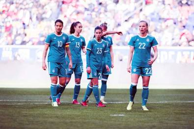 Germany during the 2018 SheBelieves Cup. (Monica Simoes)