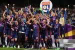Olympique Lyon, winners of the 2018 Champions League title. (Daniela Porcelli)