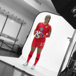 Mary Earps photo shoot at VfL Wolfsburg. (Mary Earps, Instagram)