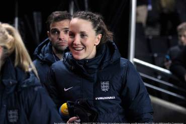 Casey Stoney for England (joshjdss, wikicommons)
