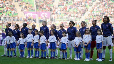 Lyon's starting lineup for the 2019 UEFA Women's Champions League final. (Daniela Porcelli / OGM)