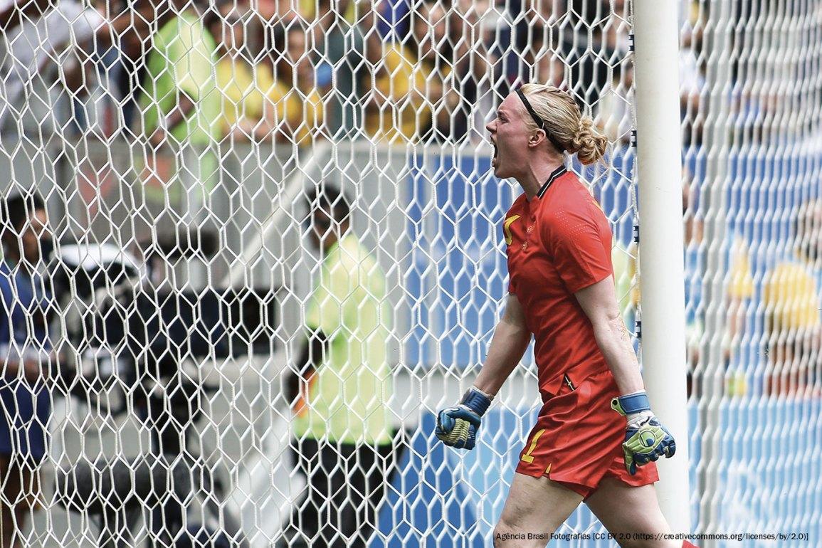 Hedvig Lindahl of Sweden's National Team. (Agencia Brasil Fotografias)