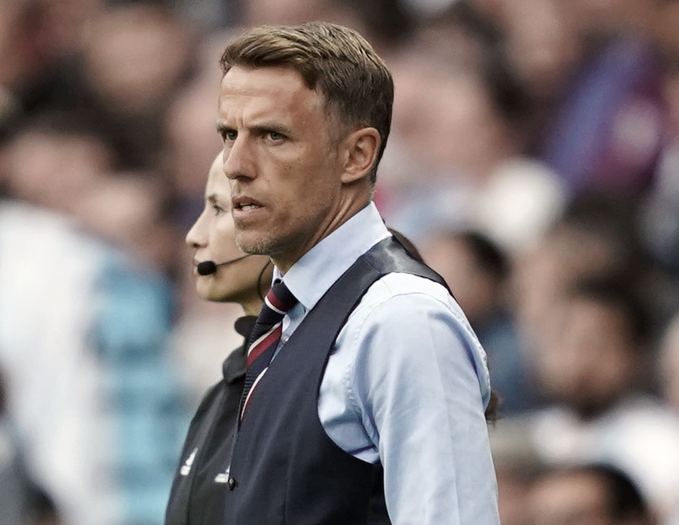 England head coach Phil Neville during the 2019 World Cup in France. (Daniela Porcelli)