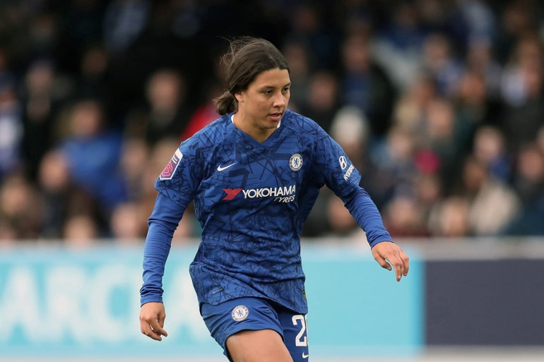 Sam Kerr playing for Chelsea. (Chelsea FC)