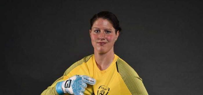 Marie Hourihan for the Republic of Ireland. (Football Association of Ireland)