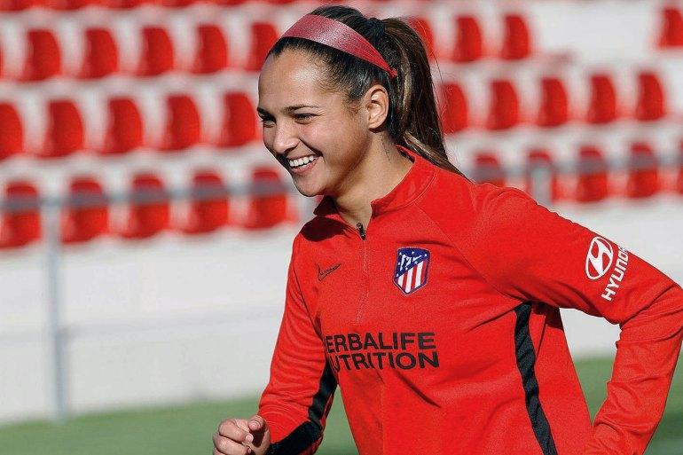 Deyna Castellanos playing for Atletico Madrid. (Atletico Madrid)