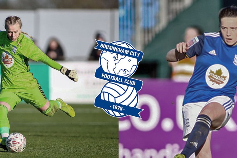 Hannah Hampton and Harriet Scott playing for Birmingham City. (Birmingham City)