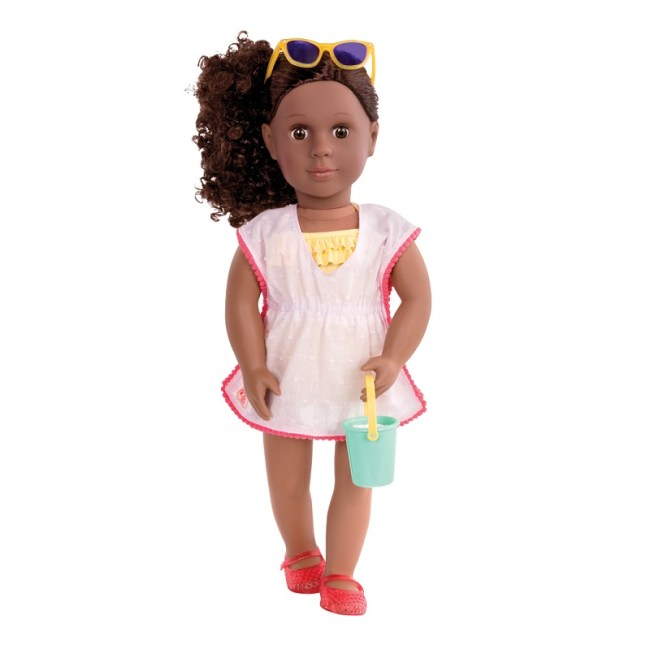 Our Generation Deluxe Doll Twin Dedra Ethnic With Book
